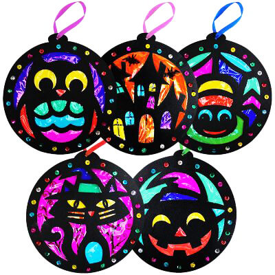Halloween Stained Glass Making